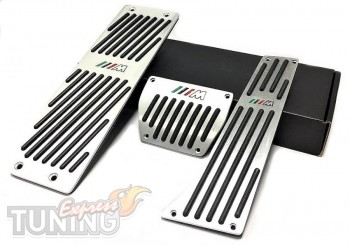 Накладки на педали Bmw X1 E84 с коробкой автомат (купить алюмини