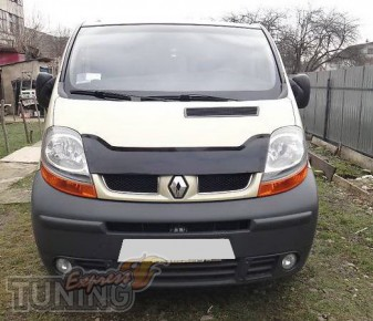 Мухобойка Renault Trafic (дефлектор капота Рено Трафик)