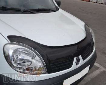 Мухобойка для авто Рено Кангу 1 (дефлектор капота Renault Kangoo