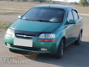 Мухобойка Шевроле Авео 1 (дефлектор капота Chevrolet Aveo 1)