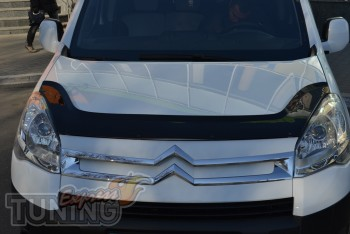 Мухобойка Ситроен Берлинго 2 (дефлектор капота Citroen Berlingo
