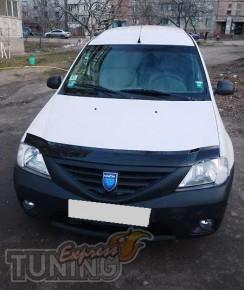 Дефлектор капота Дачия Логан (мухобойка Dacia Logan)