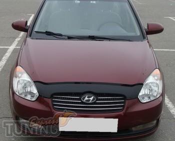 Мухобойка Хендай Акцент 3 (дефлектор капота Hyundai Accent 3)