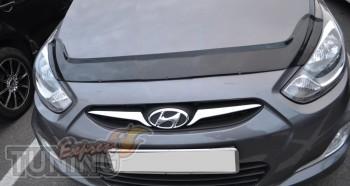 заказать Мухобойка Хендай Акцент 4 (дефлектор капота Hyundai Acc
