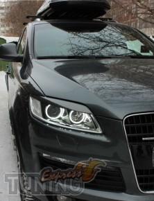 Пластиковые реснички на фары Audi Q7