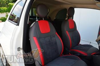 автомобильные Чехлы Фиат 500 (авточехлы на сиденья Fiat 500)