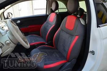 Чехлы в салон Фиат 500 (авточехлы на сиденья Fiat 500)