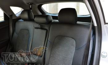 комбинированые Чехлы в салон Хендай Туксон ТЛ (авточехлы сидений
