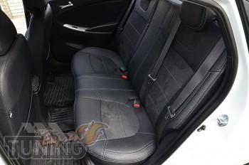 заказать Чехлы для Хендай Акцент 4 (авточехлы на сиденья Hyundai
