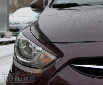 Купить накладки на фары для Hyundai Accent (Solaris)