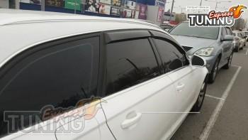 Черные дефлекторы окон Audi A6 C7 Avant 2011