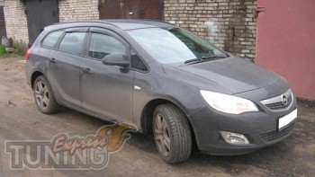 Ветровики Опель Астра J Спорт Турер (дефлекторы окон Opel Astra