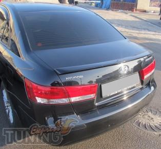 Лип спойлер на багажник Hyundai Sonata NF