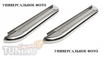 Пороги труба с листом Митсубиси Аутлендер ХЛ (пороги площадкой M