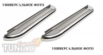 Пороги труба с листом Хендай Туксон 1 (пороги площадкой Hyundai