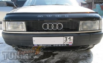 Дефлектор капота Ауди 80 Б3 (мухобойка для Audi 80 B3 Vip Tuning