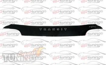 Дефлектор капота Форд Транзит 4 (мухобойка на капот Ford Transit