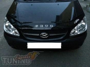 Дефлектор на капот Hyundai Getz рестайл (мухобойка капота Хендай