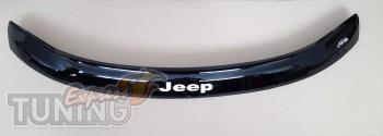 Дефлектор капота Джип Гранд Чероки WK2 (мухобойка на капот Jeep