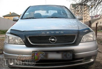 Дефлектор на капот для Opel Astra G классик