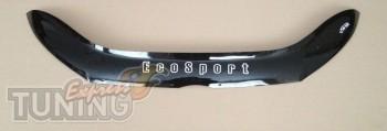 Дефлектор капота Форд ЭкоСпорт 2 (мухобойка на капот Ford EcoSpo