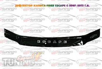 Мухобойка на капот Ford Escape 2 (дефлектор капота Форд Эскейп 2