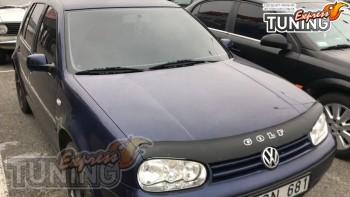 Установка мухобойки на капот VW Golf 4