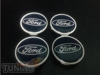 Модельные черные колпачки для титановых дисков Форд