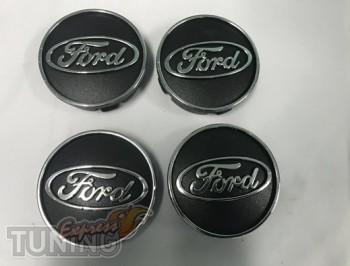 Комплект заглушек в диски Ford черный вариант 55мм
