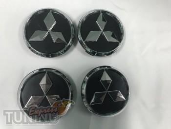 Модельные колпачки в диски Mitsubishi черный цвет